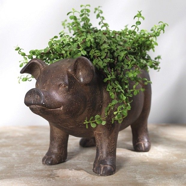 Good Pudgy Pig Planter