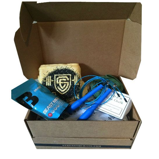 StrengthCrate is a monthly fitness subscription box for athletes. Each StrengthCrate is full of fitness equipment, training aids, apparel, and supplements to keep you at the top of your game every month! From premium fitness apparel to full-size supplements to workout essentials, StrengthCrate provides the fitness tools you need.