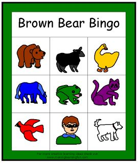 Brown Bear Brown Bear preschool small group speech/language lesson in the classroom