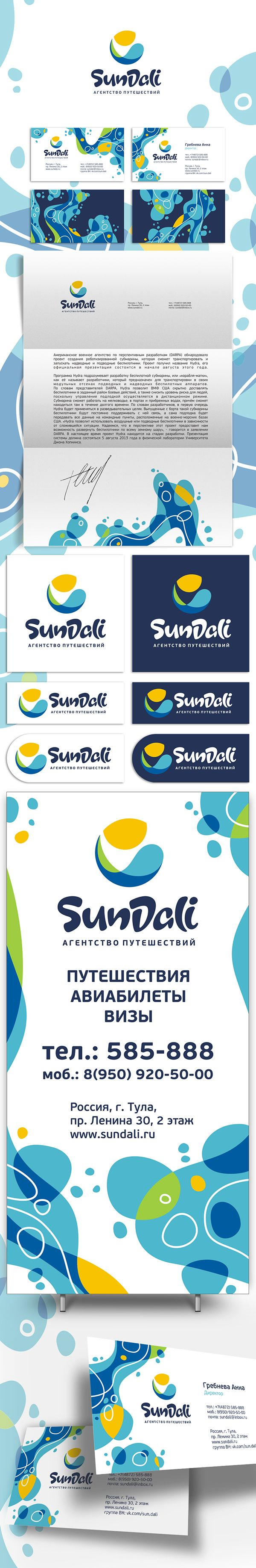 logo and corporate identity for a travel agency