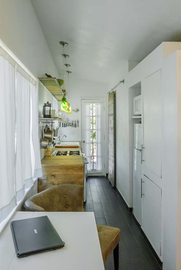 """Another cool """"tiny house."""" A bit oddly contempo-country in taste for me, but love the concept. Built on a flatbed for easy moves."""