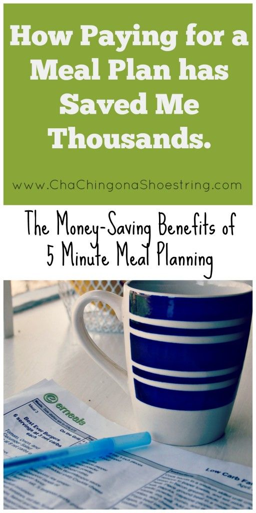 The cost-savings of paying for a meal plan - why I'm a lifetime subscriber and I recommend that others become one too.  Plus I have a coupon code to save even more!