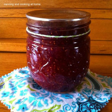 Thanksgiving Cranberry Fig Jam by: Canning and Cooking at Home