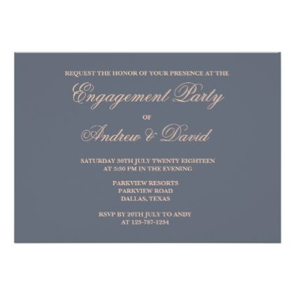 Typography Wedding Engagement Invitation Card - engagement gifts ideas diy special unique personalize