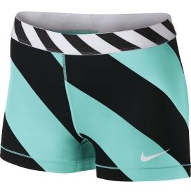 Nike Womens 3 Pro Diagonal Stripe Compression Shorts - Dicks Sporting Goods