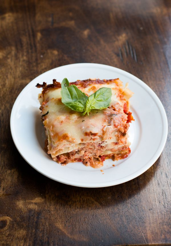 Easy Homemade Lasagna with Sweet Cheddar - Oh Sweet Basil