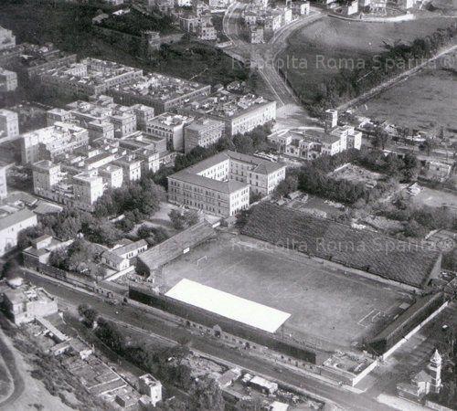 Foto storiche di Roma - Veduta aerea del Rione Testaccio Anno: Ante 1933