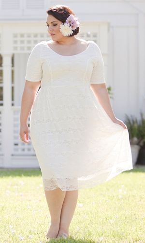 Kara lace dress. Plus size from SWAK.