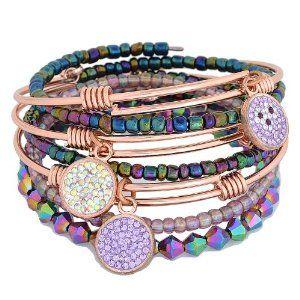 Busty models wearing bangle bracelets