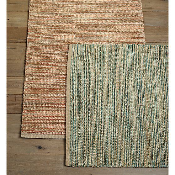 Jarvis Coral Orange Jute Blend 9 X12 Rug Coral Rug