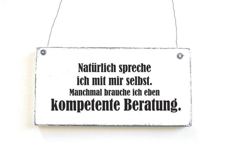 Dekoschild MONOLOG Holzschild Shabby Vintage von DÖRPKIND auf www.doerpkind.de
