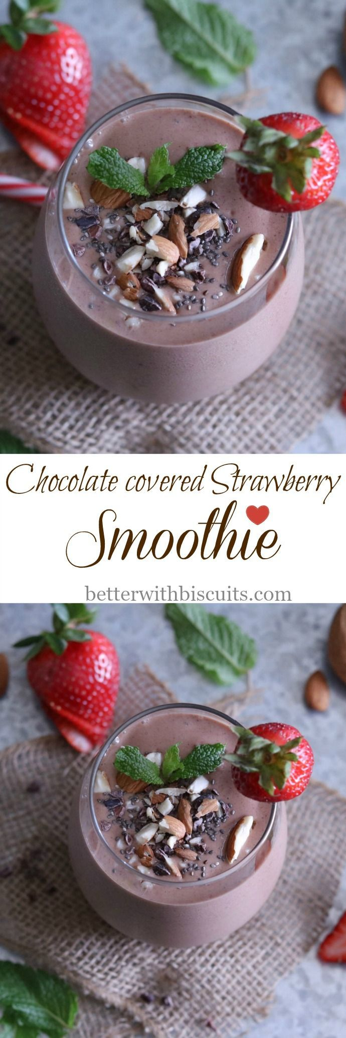 "This decadent smoothie is full of antioxidants, vitamins, and so much more that can help with starting your day off right by boosting serotonin levels the ""feel good"" hormones."