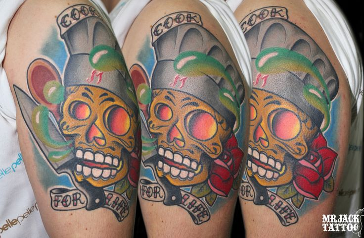 #teschio #skull #chef #skullchef #skullcartoon #teschiotattoo #teschiocartoon #skulltattoo #tattoo #tattooartist #colorcartoon #color #mrjack #mrjacktattoo #mrjacktattooartist #tatuaggio #bodyart #arte
