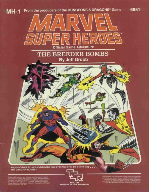 Marvel Super Heroes: MH1 The Breeder Bombs ~ TSR (1984)
