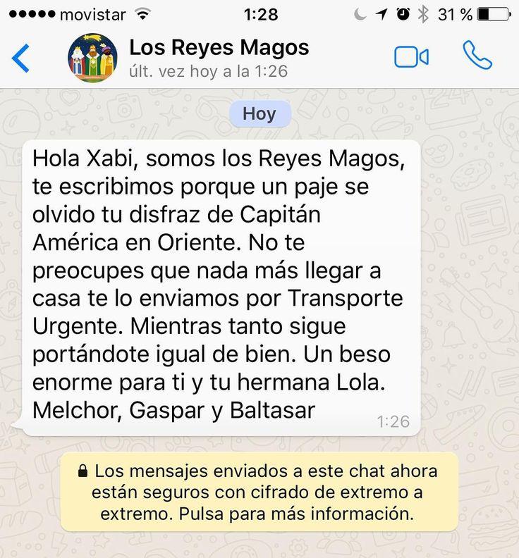 WhatsApp de los Reyes Magos...