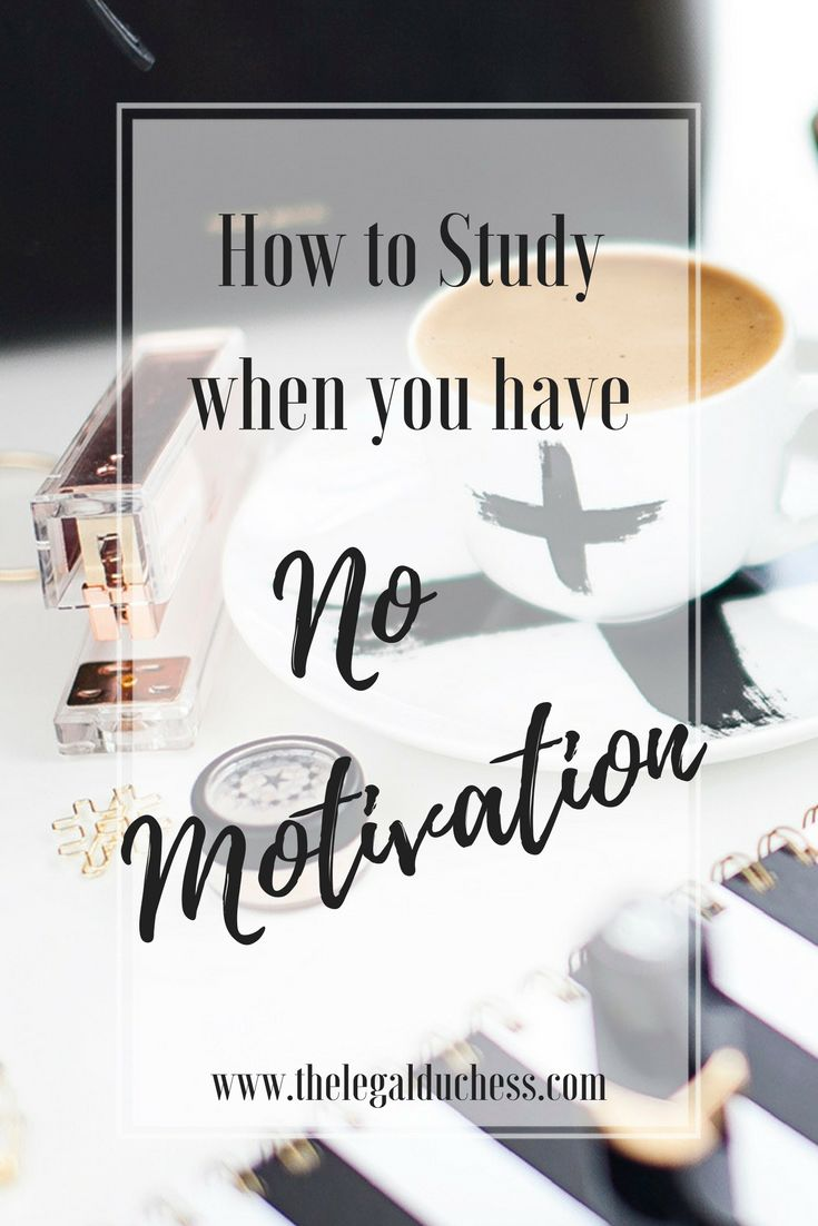 The end of the semester always leaves me lacking in motivation... here is how I find the motivation to study anyway.
