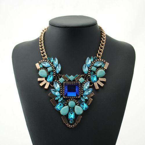 Newest Fashion Women's 3Colors Statement Bib Crystal Necklace Pendants XL1512   eBay