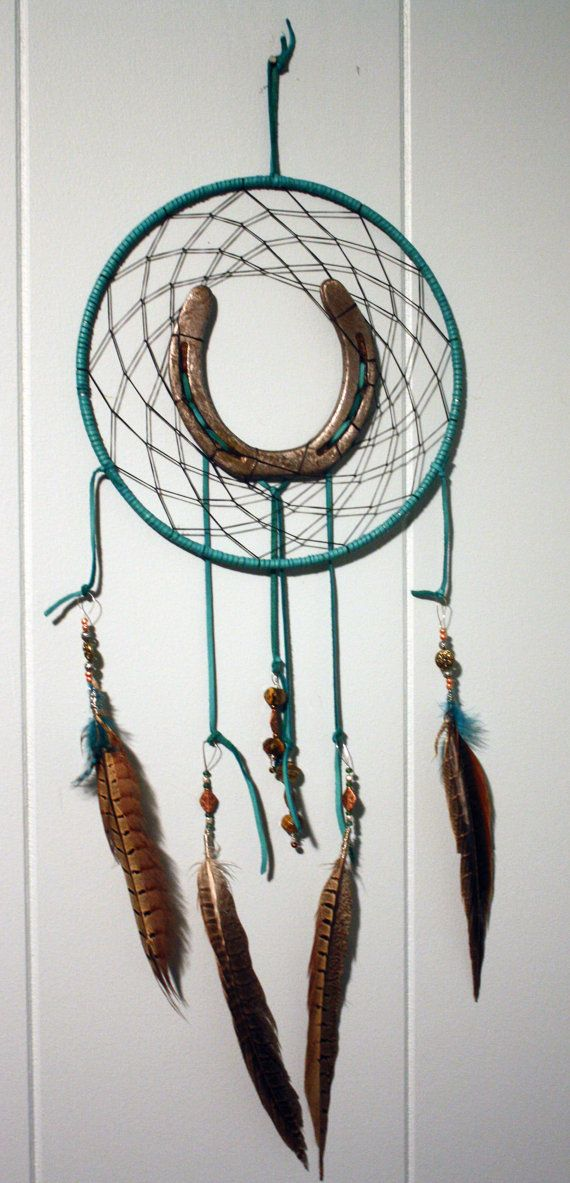 9 Custom Horse Shoe Dream Catcher by PonyLuck on Etsy, $35.00