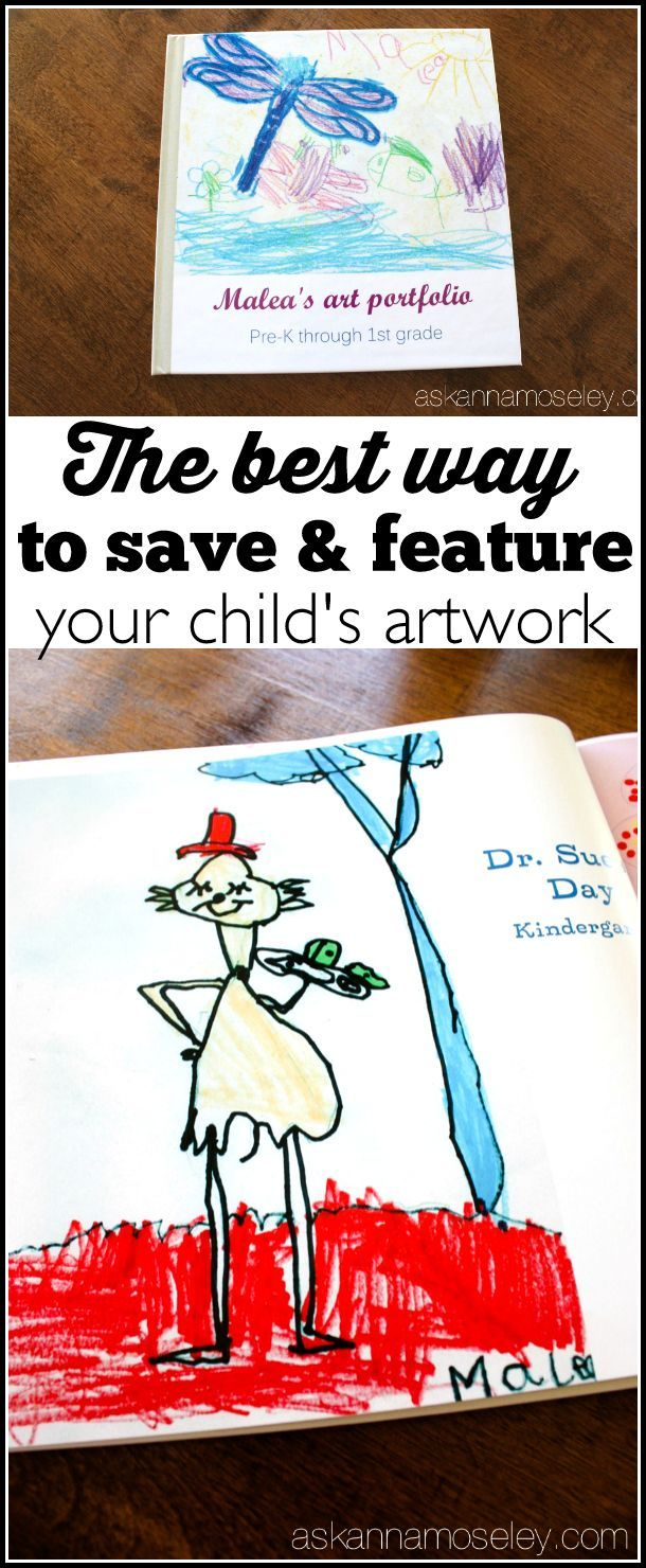 The best way to save, and feature, your child's artwork. Take years of school artwork, notes, etc. and turn it into a photo book for your coffee table. It will eliminate paper clutter and your kids will feel so proud and your friends and family will love looking at the pictures. - Ask Anna