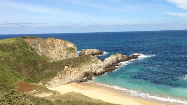 The beach of Mexota in Tapia de Casariego, Spain. Wonderful hidden nudist beach...
