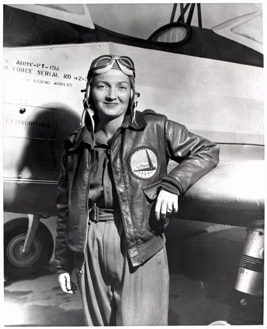 Nancy Harkness Love, September 22, 1942. With the approach of World War II, Love recognized the coming need for pilots to ferry aircraft and identified highly qualified women pilots who could perform such duties. In September 1942, the Army Air Corps' Air Transport Command approved the creation of a temporary, civilian women's flying corps, the Women's Auxiliary Ferrying Squadron (WAFS), under her direction. She is pictured here leaning against a Fairchild PT-19A. SI-96-15604