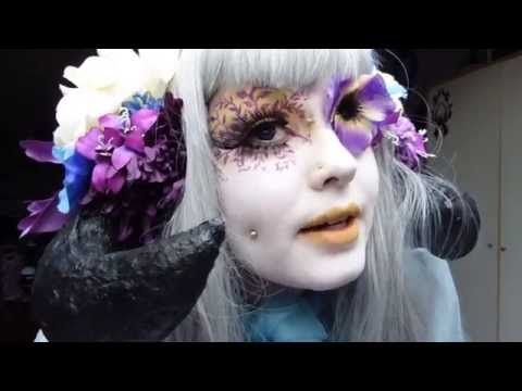 Shironuri Flower Demon makeup tutorial – YouTube