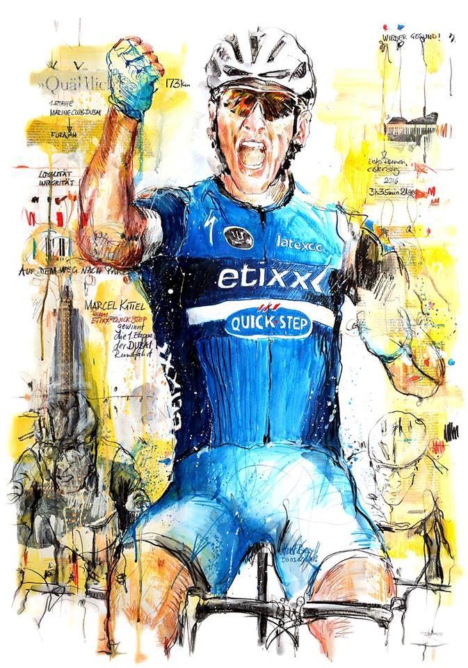 Marcel Kittel, Team Etixx-Quick Step wins 1st stage Dubai Tour 2016 by Horst Brorzy