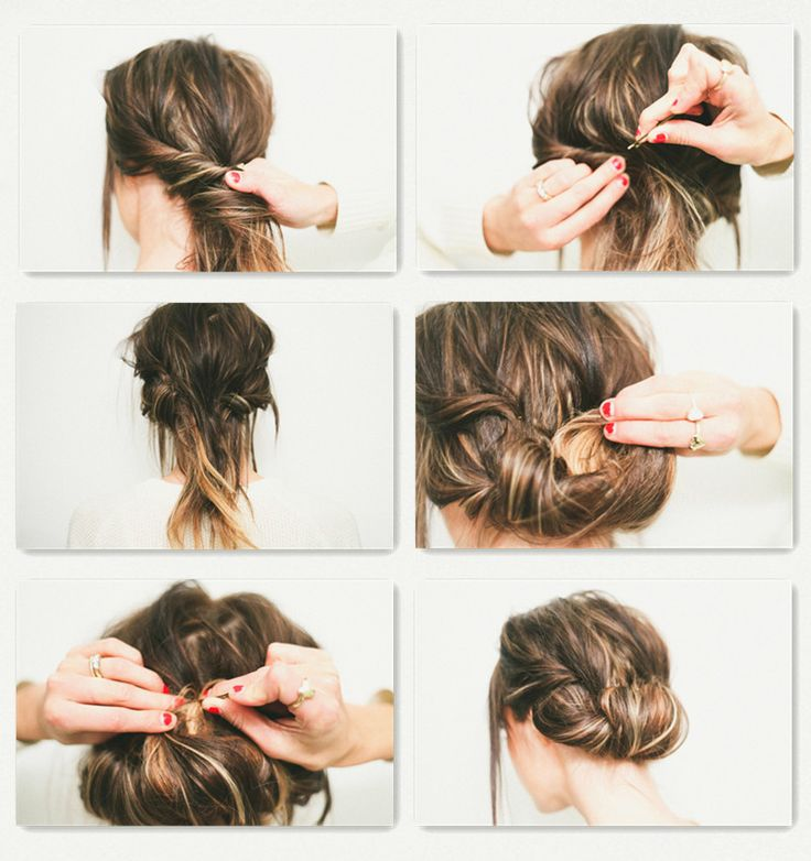 Twisted updo Hair style tutorial