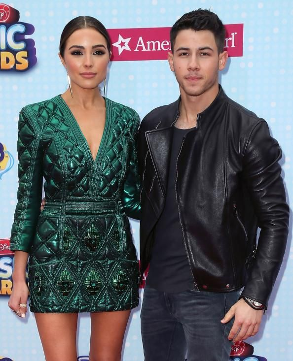 Oliva Culp and Nick Jonas at the Radio Disney Music Awards.
