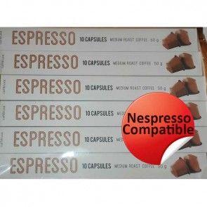 CL Espresso Medium Roast (100 Compatible Nespresso Capsules)-STRENGTH 7/10