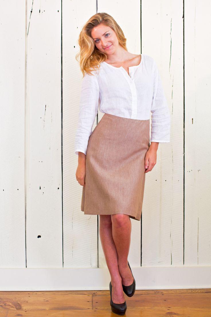 Jodi Mallinson Designs - The Linen A-Line Skirt, $95.00 (http://www.jodimallinson.com/the-linen-a-line-skirt/)