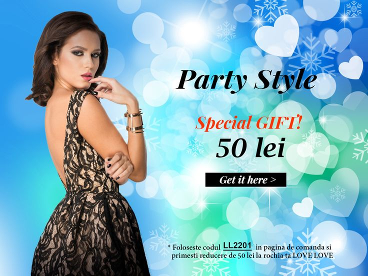 Only this weekend! 50 lei gift card for your Love Love dress. Get more details at www.lovelove.ro