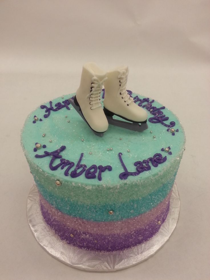 Our Yummy Ice Skating Cake. For the Michelle Kwan in all of us.
