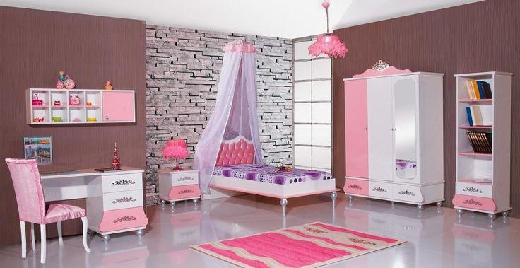 Complete meisjeskamer prinses roze