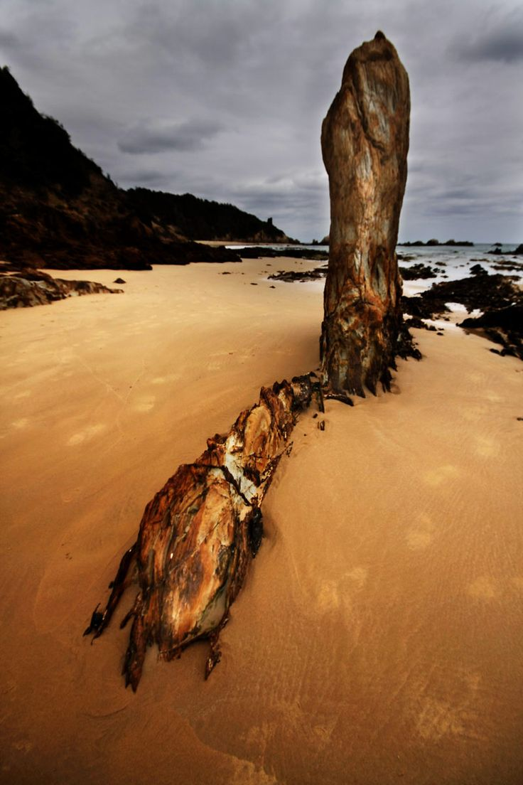 Rock at Glasshouse Rocks, Narooma NSW Australia. About 20ft tall.  Wide angle lens on Canon 40D