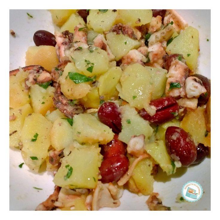 Schiscetta alla romana: Insalata di polpo con patate e olive (cottura in pentola a pressione)
