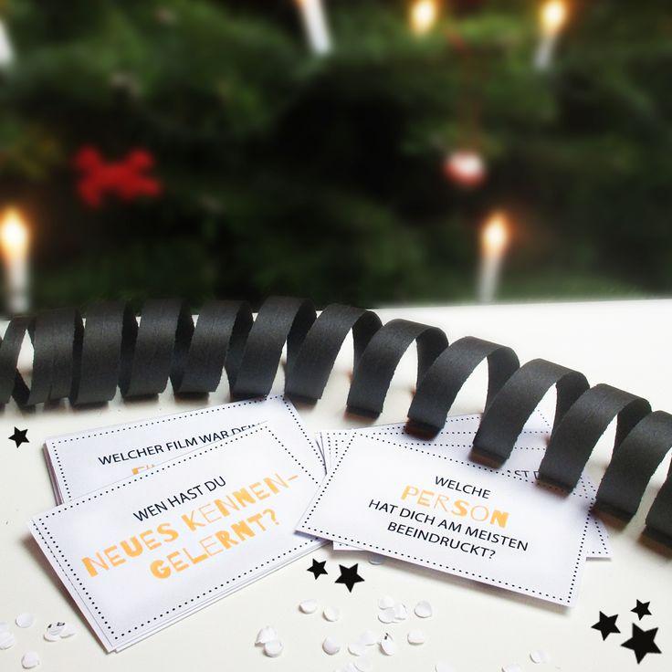 Planst du eine Party mit Freunden an Silvester? Dann lad dir schnell das Silvester-Spiel herunter! Einfach ausdrucken und ganz einfach selber basteln.