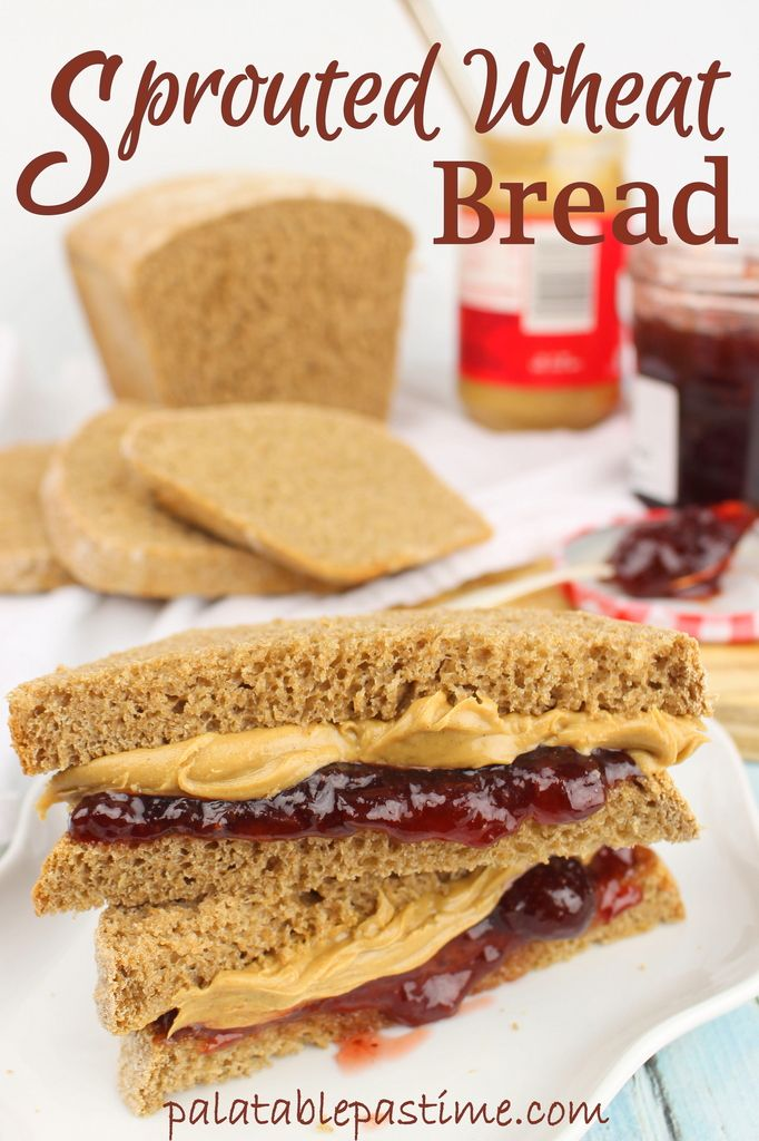 Healthy Sprouted Wheat Bread #BreadBakers