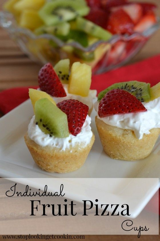 Individual Fruit Pizza Cups