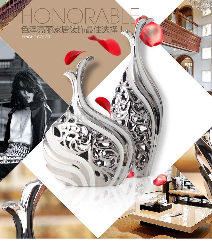 Стильный гостиной ваза современные минималистском стиле и творческий керамические аксессуары для дома европейские украшения