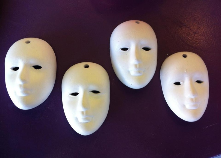 Nothing is as inviting as a plain white mask that you can decorate...