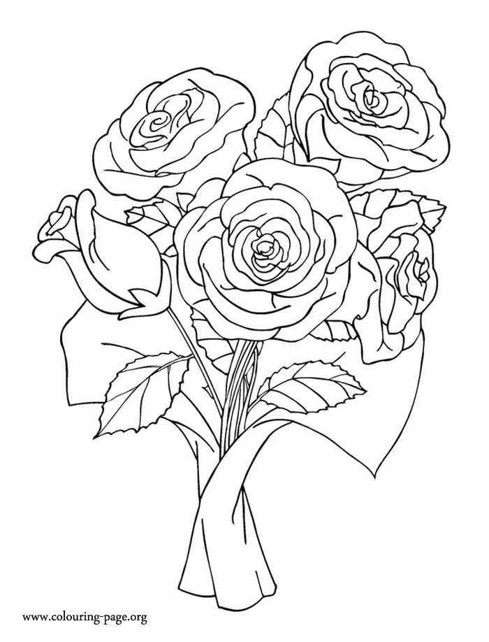 rose art coloring pages - photo#16