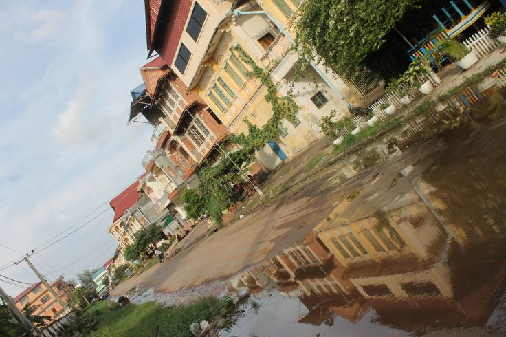 Des maisons dans le vieux quartier de #Kampot