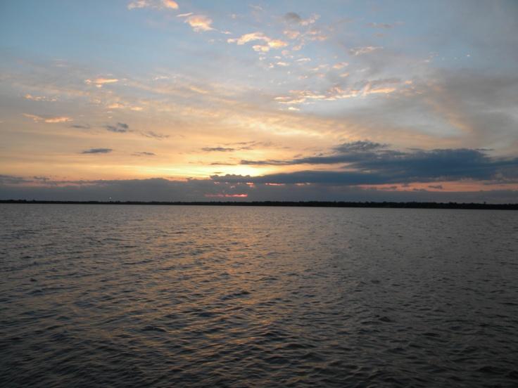 sunrise over lake overholster