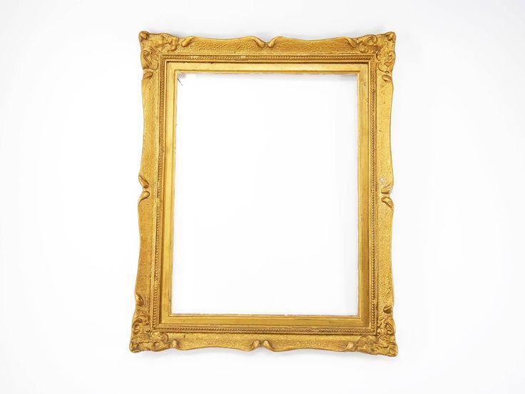 Excited to share the latest addition to my #etsy shop: Wooden frame, antique wooden frame, gold color frame, vintage wooden frame, Retro decoration, vintage photo frame, painting frame, frame