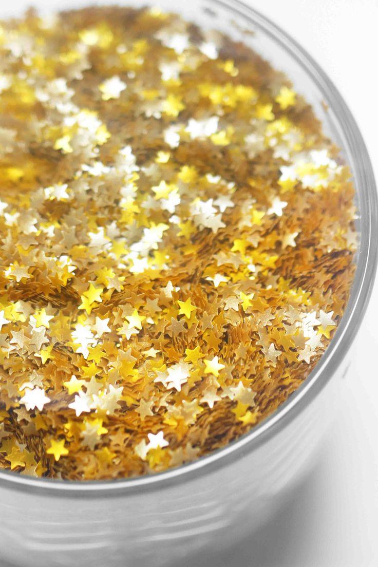 edible gold glitter stars fancy sprinkles