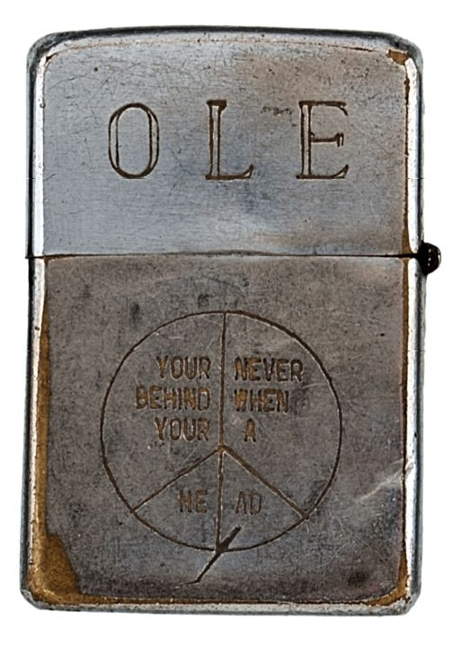 A collection of engraved Zippo lighters from soldiers of the Vietnam War recently sold at auction for over $30,000. The poignant engravings often reveal a biting gallows humor.