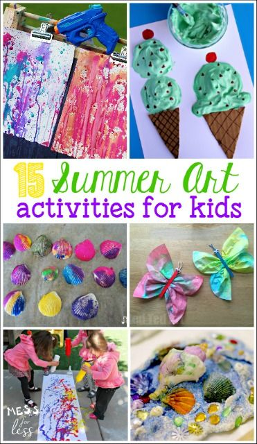 These summer art activities for kids are the perfect way to keep kids occupied during those hot summer months.