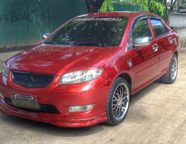 "my toyota vios with 17"" rims awc :)"