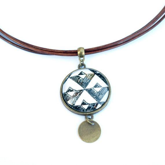 Collier ethnique pour femme collier en cuir multirang